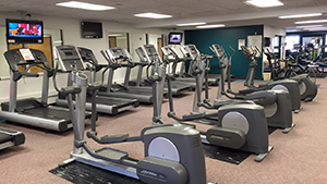 Lakeshore Fitness Center cardio equipment