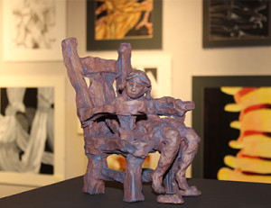 "Veronica Lamphere's clay ceramic piece ""Patience"" won first place"