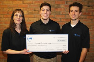 MCC students Lori Stone, Brad Cook and Tyler Carr won the $2,500 first place prize.