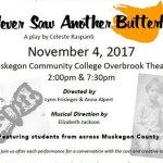 """Poster for the play """"I Never Saw Another Butterfly"""""""