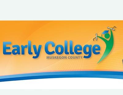 Earky College of Muskegon County logo