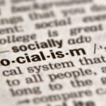 Socialism Word Definition Text in Dictionary Page
