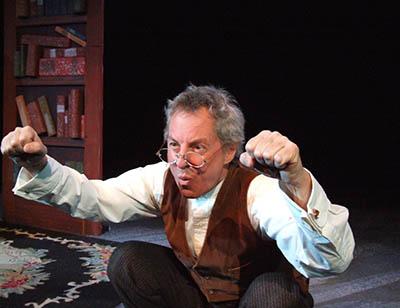 "Tom Harryman in his one-man performance of ""A Christmas Carol"""