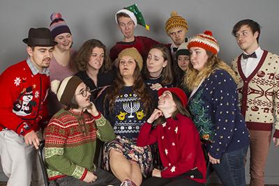 "Cast of ""Home for the Holi-dazed, a Comedy Review"""