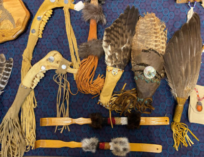 Native American Heritage Month exhibit in Overbrook lobby