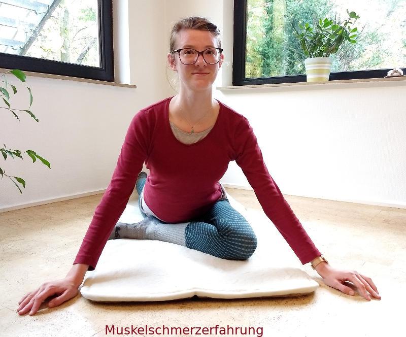Yoga Taube von vorne
