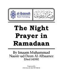 Night Prayer in Ramadan