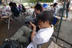 カメラマンを撮影