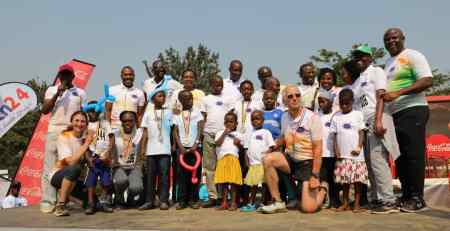 Some of the kids who have benefited from previous editions of the cancer run