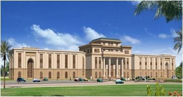 Perspective Drawing of Abu Dhabi University Community Center