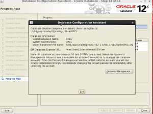 oracle 12c database installation on linux