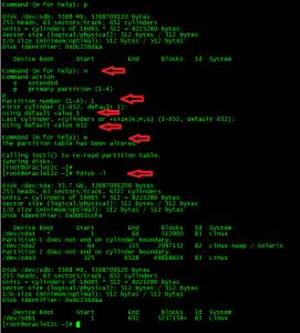Linux fdisk 2