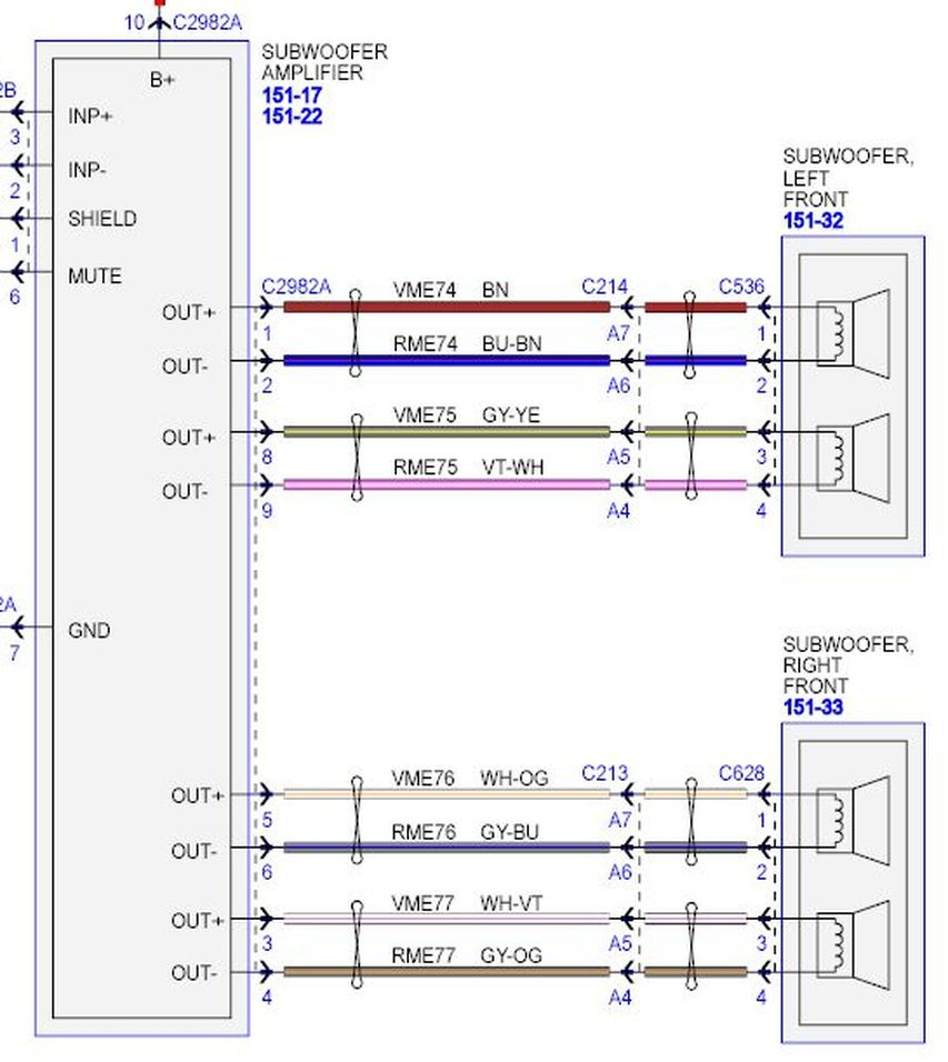 152399 2917387?resize=840%2C941 2005 mustang stereo wire harness diagram stereo speaker diagram Nissan Frontier Stereo Wiring Harness Diagram at bakdesigns.co