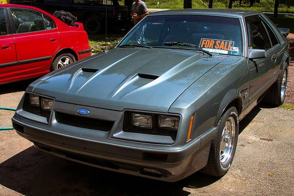 1986 Foxbody Mustang with for sale sign