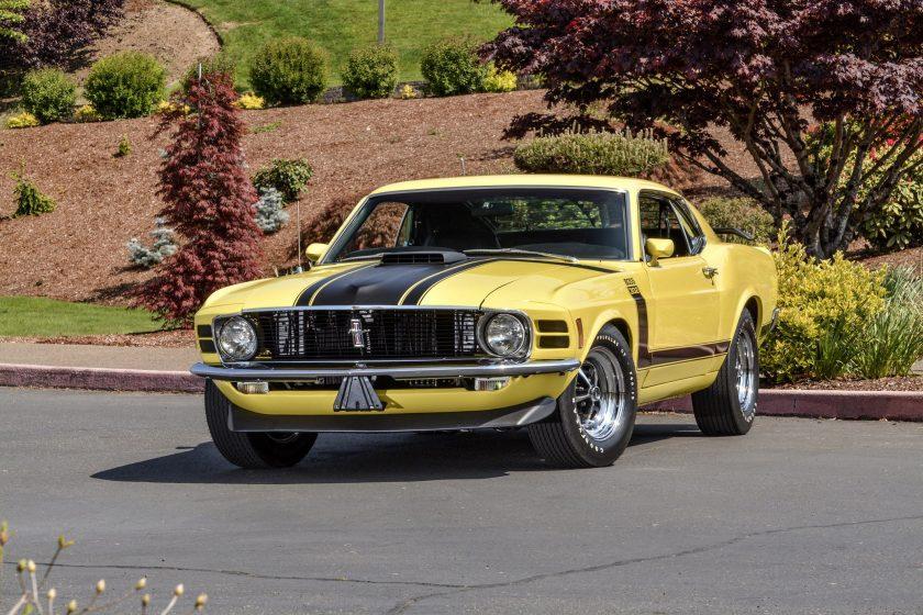 Yellow 1970 Boss 302