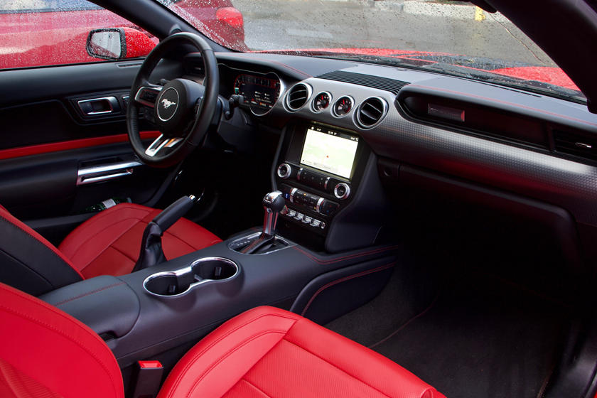 Interior of 2021 Mustang GT Convertible