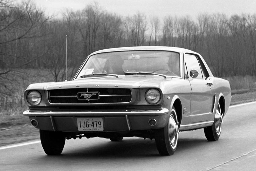 1964.5 Ford Mustang black & white pic