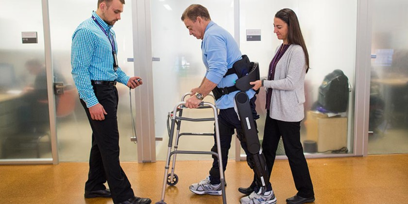 Rusk rehab patient with spinal cord injury