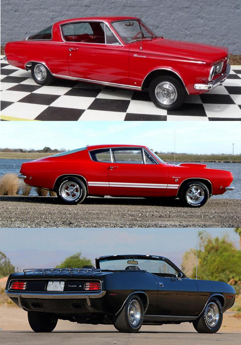 1965 Barracuda, 1968 Barracuda, 1970 Cuda