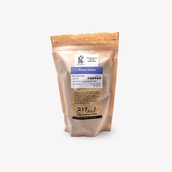Fluid Solar Roasted Coffee Twisted Sisters Coffee