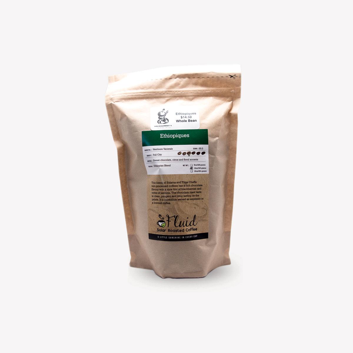 Fluid Solar Roasted Coffee Ethiopiques Coffee