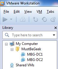 VMware worksation 8 Folder View