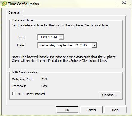 Configure NTP Server in ESXi Host