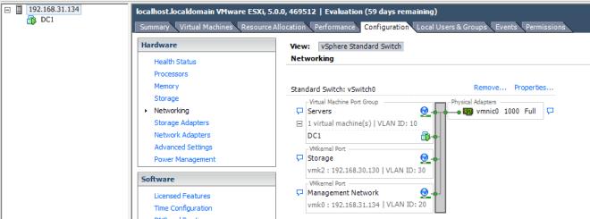 Configure NIC Teaming in ESXi Server