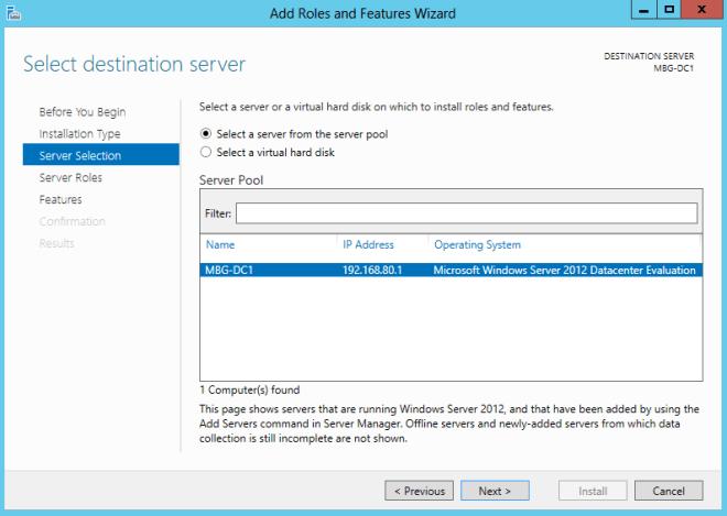 Install Domain Controller in Windows Server 2012