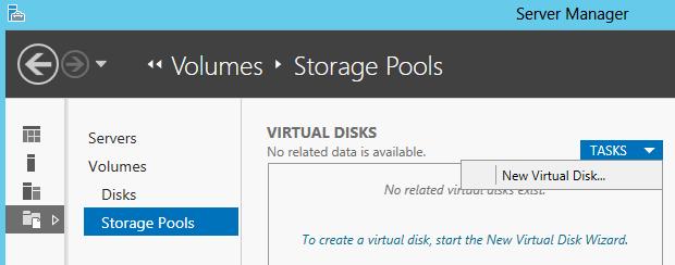 Create New Virtual Disk