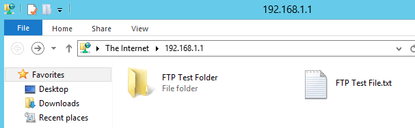 FTP Accessed by Client