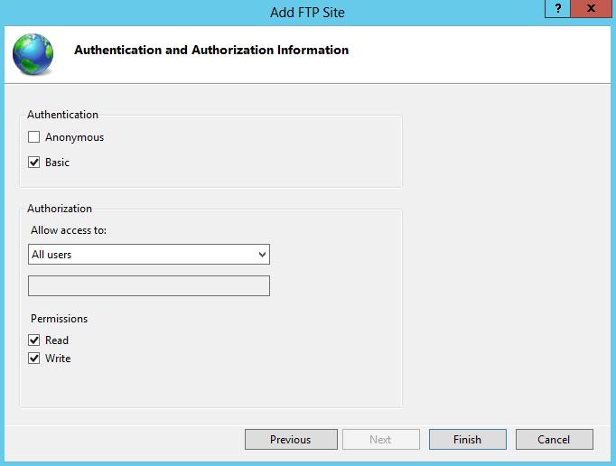 FTP authentication