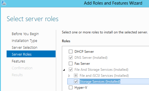 Configure Storage Space in Server 2012