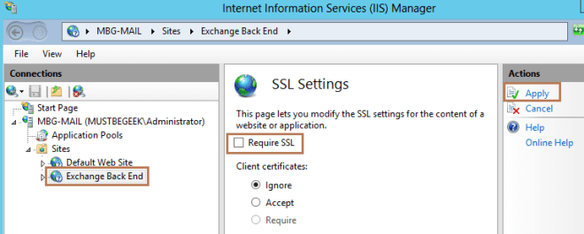 SSL Redirect