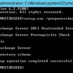 Install Exchange Cumulative Update 2 in Exchange Server 2013