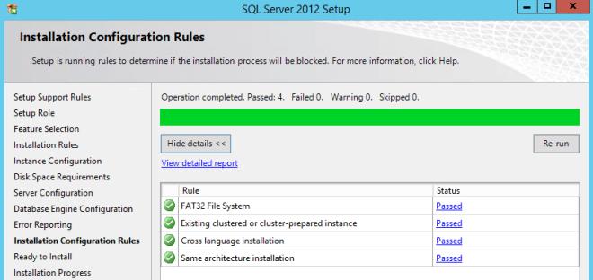 Installation Configuration Rules