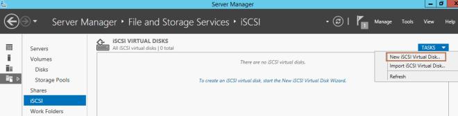 New iSCSI Virtual DIsk