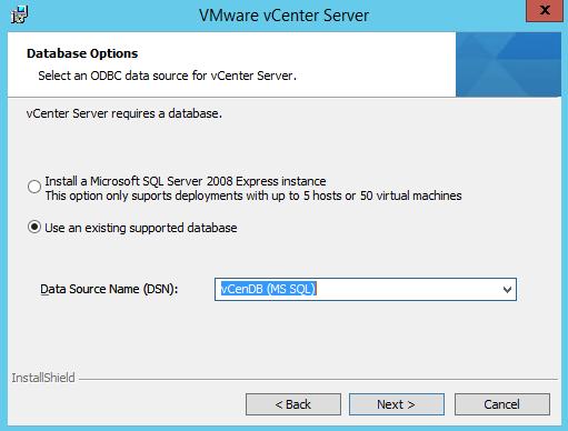 Use existing Database