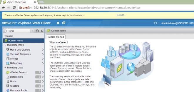 Open vSphere Web Client