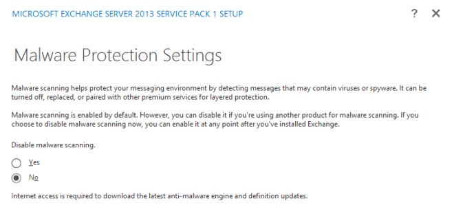 Don't disable malware