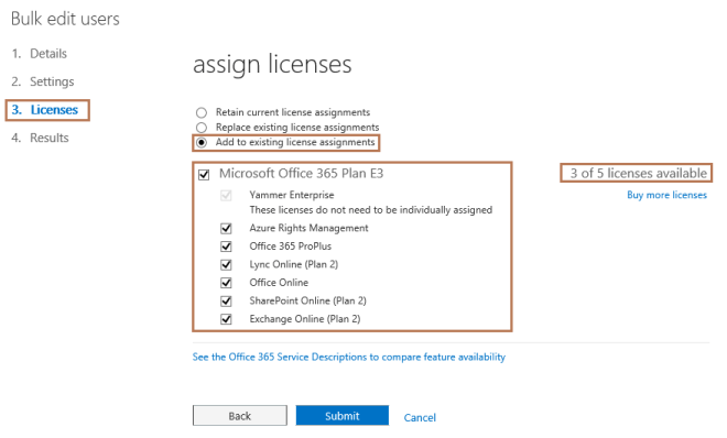 Assign License to Office 365 Users