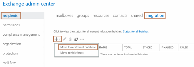 Move Mailbox from One Database to Other in Exchange 2016