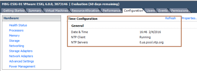 NTP Configured