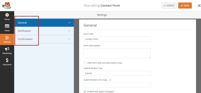 Create a Simple Contact Form with WPForms Plugin in WordPress