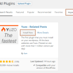 Setup Yuzo Related Posts Plugin in WordPress