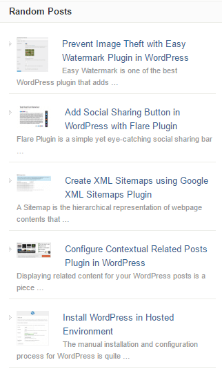 Show Related Posts in WordPress with Advanced Random Posts Widget