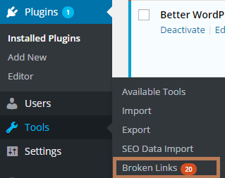 Check Broken Links with Broken Links Checker Plugin in WordPress