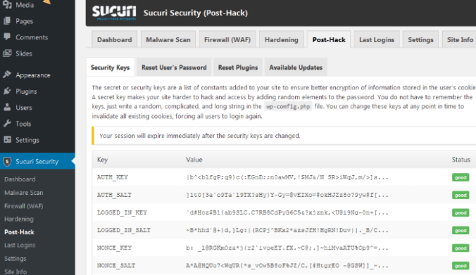 sucuri to recover hacked WordPress website