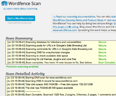 How to recover hacked WordPress website using wordfence scanning