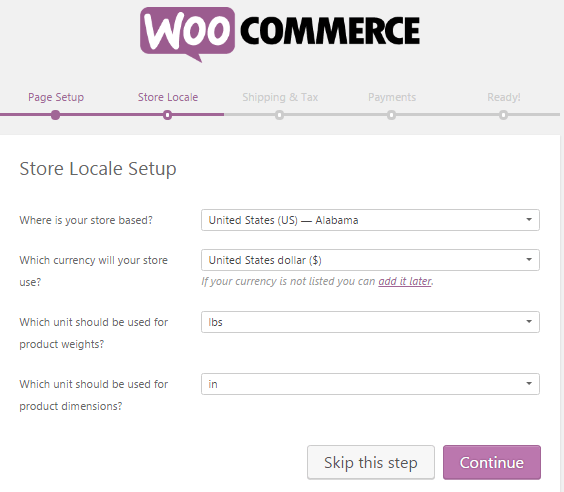 woocommerce-setup-wizard-location-currency